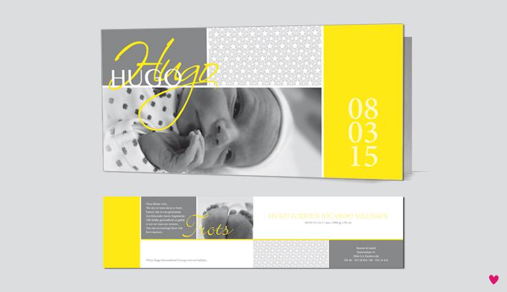 Hugo-geboortekaartje